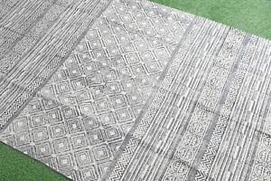 4x6ft Dari Rug Handmade Cotton Carept Floor Rug Area Rug Modern Rug Bohemian Rug