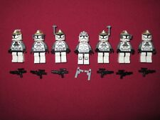 LEGO Star Wars Minifigures LOT, Wolfpack Trooper,Clone Gunners & Weapons