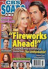 CBS Soaps In Depth Magazine June 25 2018 Joshua Morrow & Sharon Case