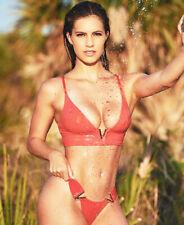Womens Bralette Bikini Sexy Bathing Suit Metal Splicing Beach Swimwear Size L