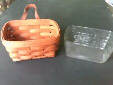 """New listing Vintage Longaberger Wall Hangers Collector's Basket 1989 7"""" x 5"""" X 4"""""""