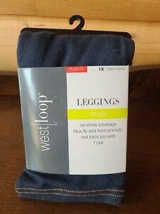 West Loop Plus Fit Dark Denim Leggings Size 1X plus fit. FREE SHIPPING.