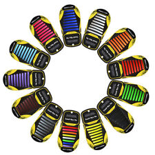Easy No Tie Elastic Shoe Lace Silicone Adult Kids Cool All Colours Shoelaces