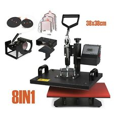 8IN1 38x38cm SWING AWAY Heat Press Machine (CAP,PLATE,MUG,T-SHIRT) good hot