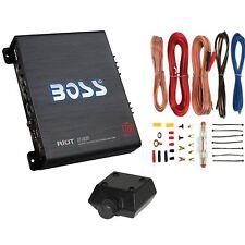 New BOSS R1100M 1100W Mono Car Audio Amplifier Amp + 8 Gauge Amp Wiring Kit