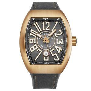 Franck Muller 'Vanguard' Grey Dial 18K Rose Gold Automatic Watch 45SCGLDGRYGLDMT