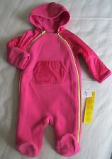 Polo Ralph Lauren Baby Girls Hooded Fleece Pink Coverall - Size 9 Months - NWT
