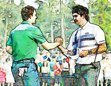 Golf Poster/Print/ Bubba Watson and Jordan Spieth 2014 MastersTournament 17x22in