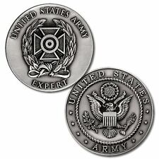 NEW U.S. Army Expert Weapons Qualification Badge Challenge Coin. 48685.