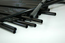 100 BLACK FLEXIBLE DRINKING STRAWS FOR PARTIES COLD DRINKS- 9.5″