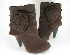 DOLLHOUSE WOMENS ROSALEE MID-CALF BOOTS BROWN US SIZE 6