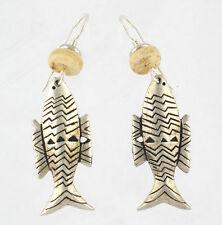 *NEW* Laurel Burch FISH SPIRIT Antiqued Silver Earrings