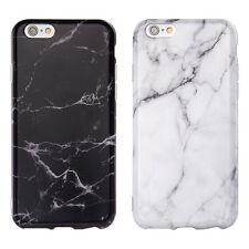White Black Marble Pattern Soft TPU Phone Case Cover for Apple iPhone 6 6s Plus