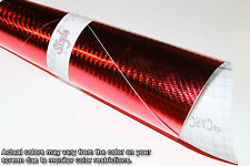 【AirFree】4D Gloss Carbon Fibre Vinyl 0.1m(3.9in)x0.75m(29.5in) Wrap Film Sticker