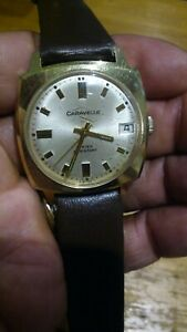 Caravelle 17 Jewels Water Resistant Swiss Watch Wind Up