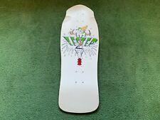 Vintage Lester Kasai Original Old School 80s Clown Skateboard Deck Nos White