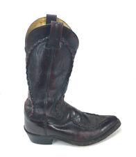 VTG Dan Post DP26679 Black Cherry Western Leather Cowboy Boots Men's US 7D