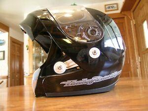 HARLEY DAVIDSON Full Face Shield Helmet 57-58cm Black Silver DOT size Medium