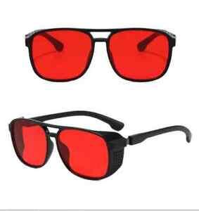 Vintage retro designer Alternative Clear Lens Yellow Red glasses Sunglasses