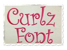 Curlz Machine Embroidery Font Alphabet Names Monograms Letters PES