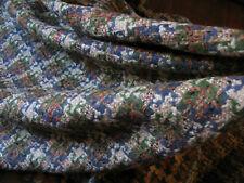 "Vintage Tweed fabric1960's Otterburn Brown, Gray Green Houndstooth 105"" X 54"""