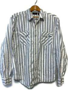Rue 21 Men's Pearl Snap Button Up Long Sleeve Shirt Size Large 100% Cotton