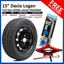 "DACIA Logan 2013-2018 FULL SIZE STEEL SPARE WHEEL 15""  AND TYRE + TOOL KIT"