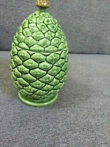 Bordallo Pinheiro Pineapple motif jar Made in Portugal