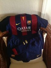 Nike FC Barcelona LFP soccer/futbol Set Jersey/shorts/socks Size XL Little Boys