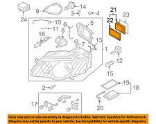 VW VOLKSWAGEN OEM Headlight Head Light Lamp-Power Regulator Right 7L6941330