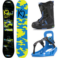K2 Niño Mini Turbo Grom Paquete Niños Juego de Snowboard Completo Con Botas Neu