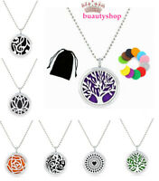 Necklace pendant Aromatherapy Essential Oil Diffuser Perfume Locket with chain