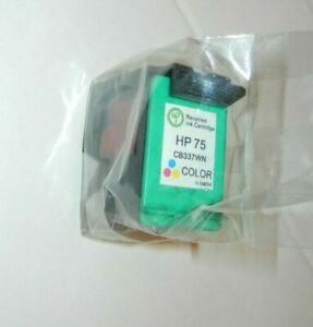 1 pack recycled HP 75 Color ink print cartridge for HP seal in package  CB337WN