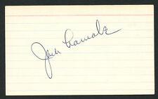 Jack Lamabe (d. 2007) signed autograph Baseball 3x5 Index Card 3045-05