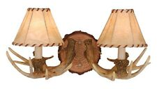 Vanity Lodge Country Vaxcel Wall Sconce Antler Lighting Rustic Fixture WL33042NS