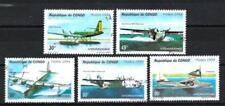 Avions Congo (36) série complète de 5 timbres oblitérés