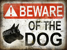 BEWARE OF THE DOG  FUNNY METAL SIGN HOME DECOR:MAN CAVE: GREAT CHRISTMAS  GIFT