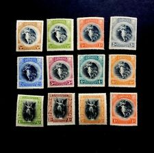 Barbados SG 201/12 1920 Victory Set Lightly Mounted Mint