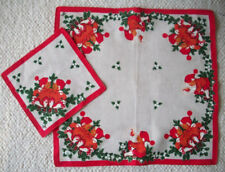 Scandinavian Swedish Christmas tablecloth and one napkin?