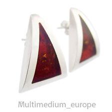 Silber Ohrringe Ohrstecker Bernstein sterling silver earrings amber 🌺🌺🌺🌺🌺