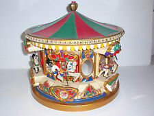 LARGE 1994 Mr Christmas Holiday Merry Go Round Carousel Musical 21 Carols