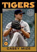 Casey Mize 2021 Topps 5x7 1986 Baseball 35th Anniversary Gold #86B-85 /10 Tigers