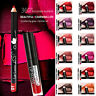 12 Color Semi Matte Lip Liner + Liquid Lip Gloss Kit - Long Lasting Waterproof