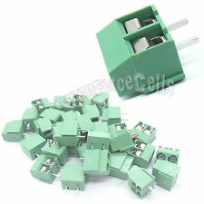5 pcs 126-2P 2 Pin 5.0mm Pitch PCB Screw Terminal Block Connector 2 Positions
