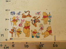STICKER,DECAL SHEET WINNIE THE POOH DISNEY MARGRIET 10-98 POOH STORIES MILNER