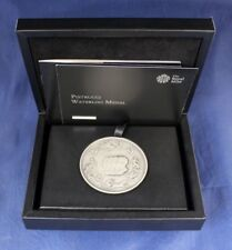 """2015 Royal Mint Silver Medal """"Pistrucci - Waterloo"""" in Case with COA   (J5/1)"""