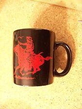 Marlboro horse & rider logo ceramic black mug coffee cup pony express smoking