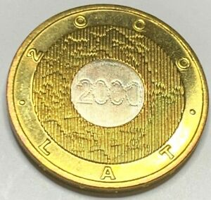 Poland 2001 2 Zlote/ Nordic-gold coin UNC !!NO RESERVE!! !!(R1D1)