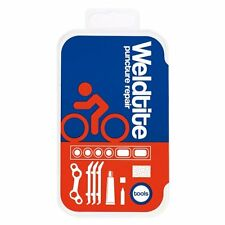 Weldtite puncture repair kit including tyre levers and spanner - red/blue