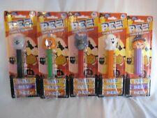 PEZ Dispenser & Seasonal Candy Flavor HALLOWEEN COLLECTION New SET OF 5 FULL SET